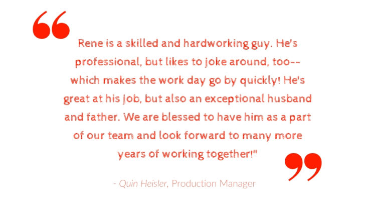 Rene Employee Spotlight quote