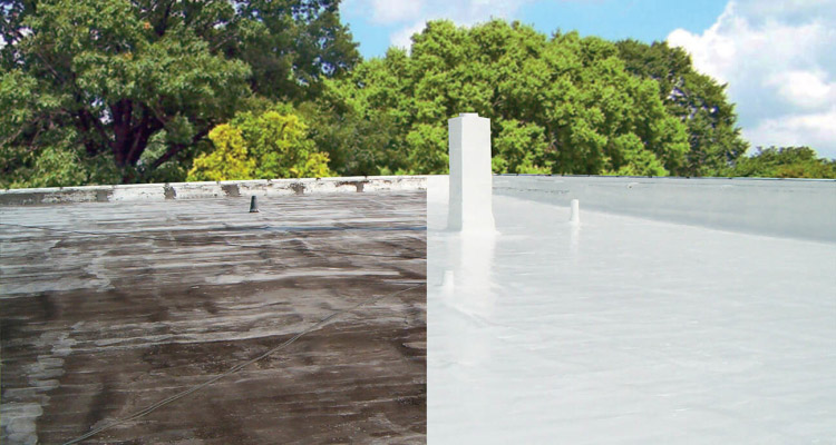 spray foam roof before and after