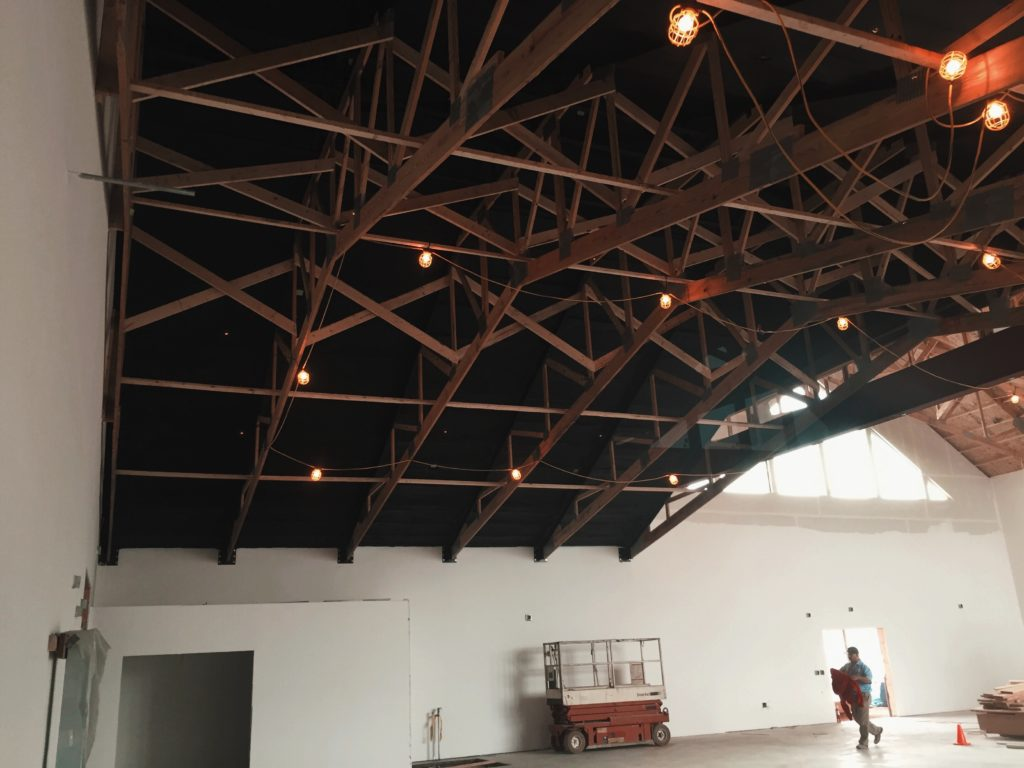 black out ceilings insulation and paint
