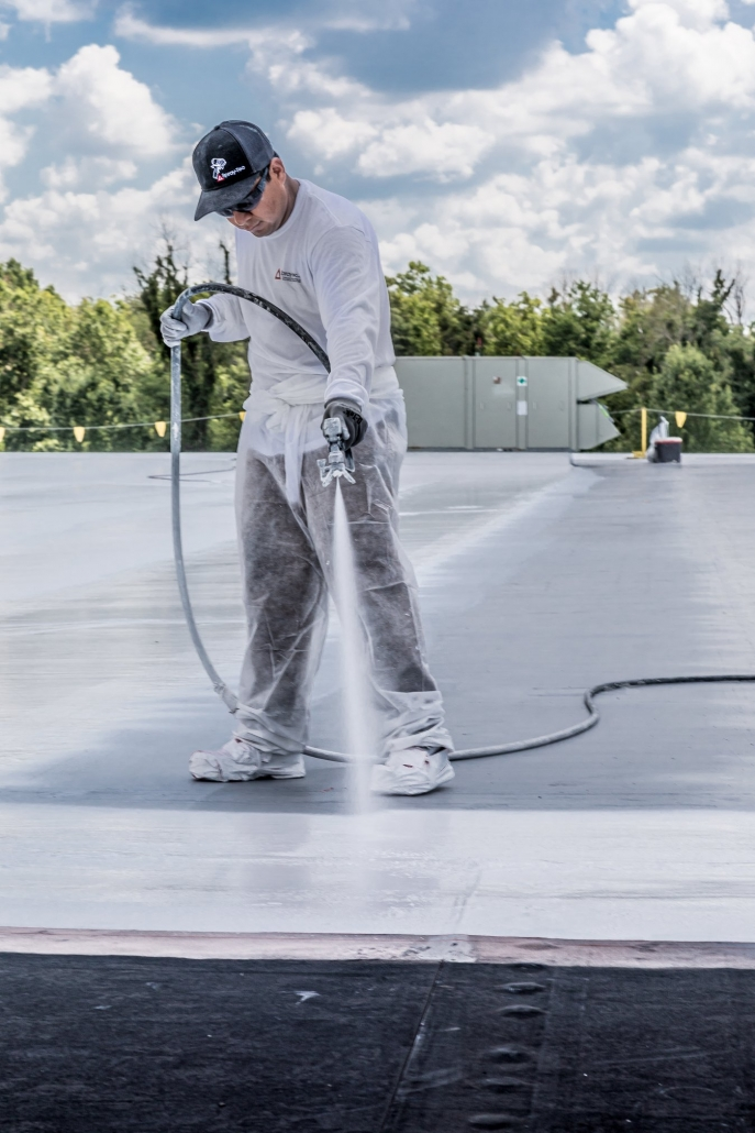 pictures of spray foam roofing