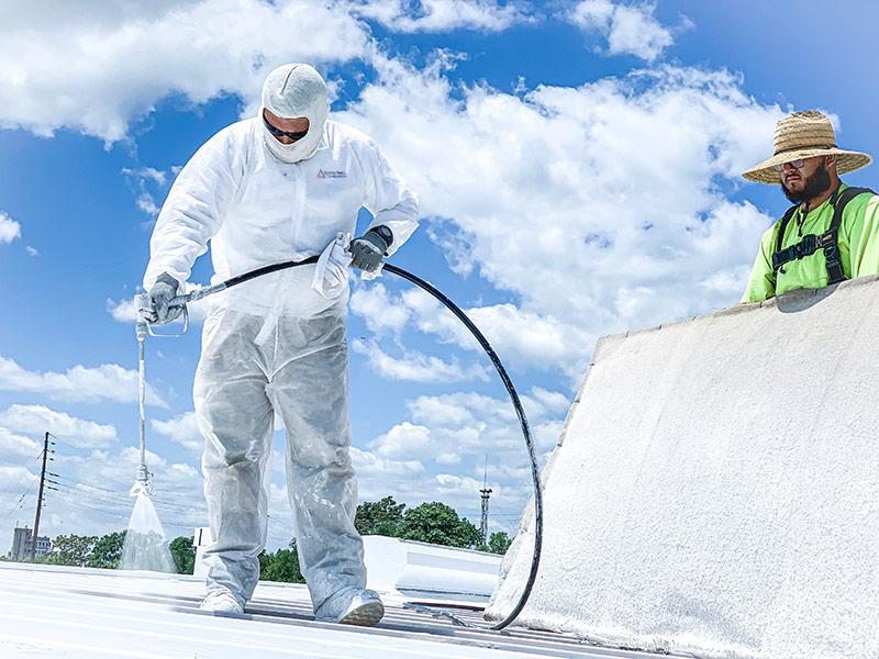 metal roof spraying